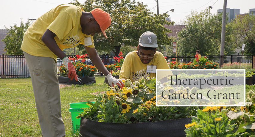 Therapeutic Garden Grants made possible by National Garden Bureau