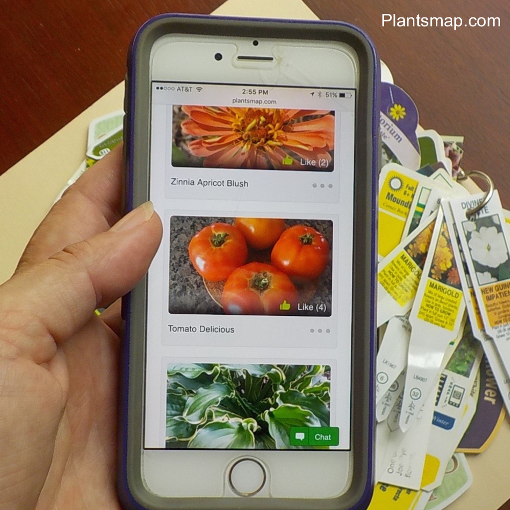 Plantsmap My Plants Map Digital Plant Journal - National Garden Bureau