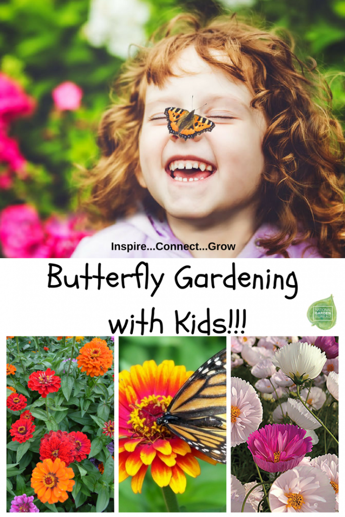 Butterfly Gardening With Kids - Planting a garden to attract butterflies is one of the best ways to get children interested in gardening and nature science at the same time.