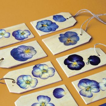 Make Pansy Gift Tags, they are easy!
