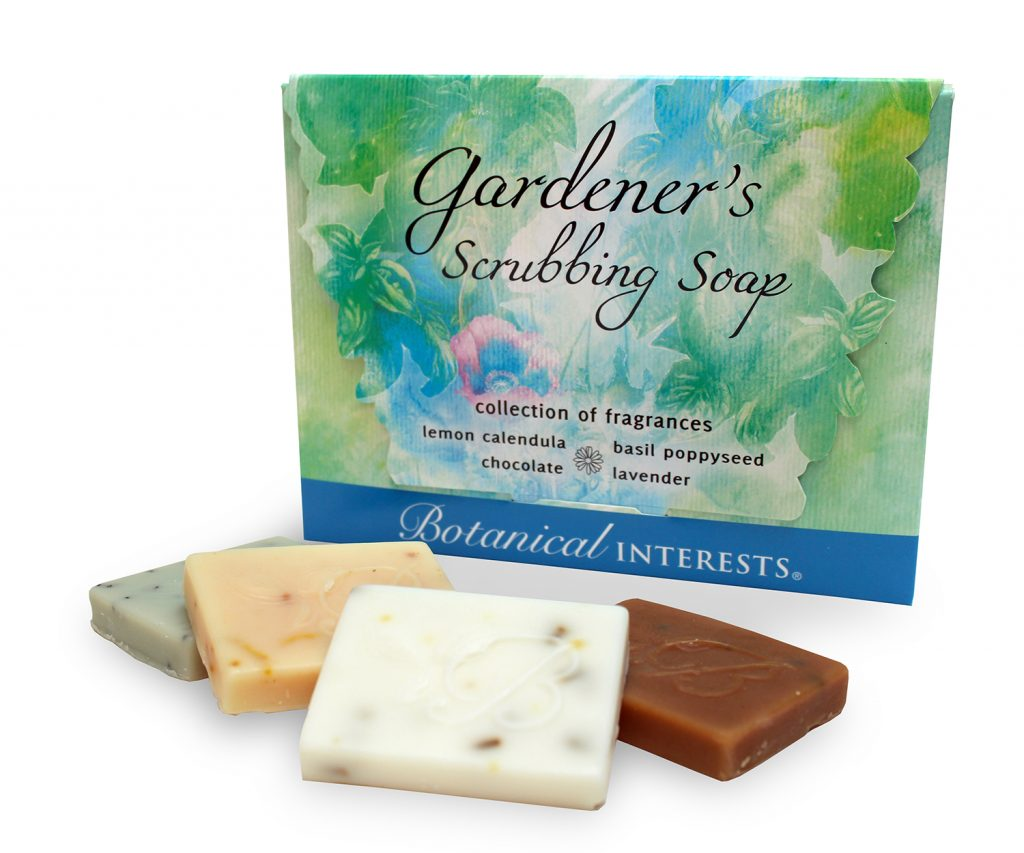 Botanical Interests Gardeners Scrubbing Soap Gift Set   National Garden  Bureau
