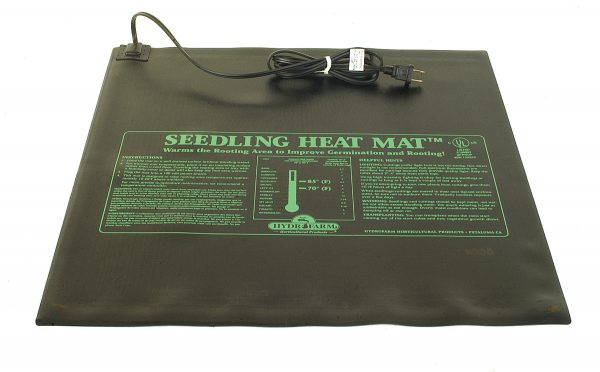 Hydrofarm Seedling Heat Mat – 9″ x 19 1/2″, 17 Watts