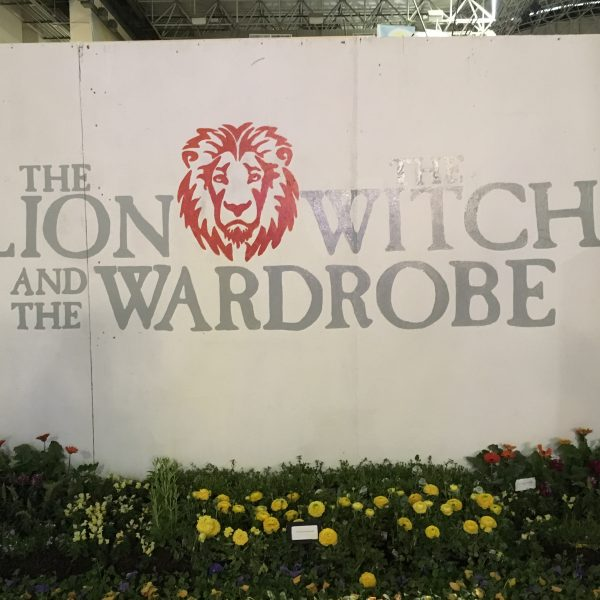 The Chronicles of Narnia Garden was behind this wall at Chicago Flower & Garden Show - National Garden Bureau