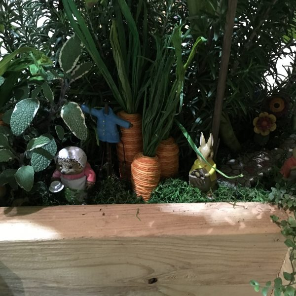 Peter Rabbit miniature garden at Chicago Flower & Garden Show - National Garden Bureau