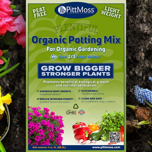 PittMoss Plentiful Organic Potting Soil