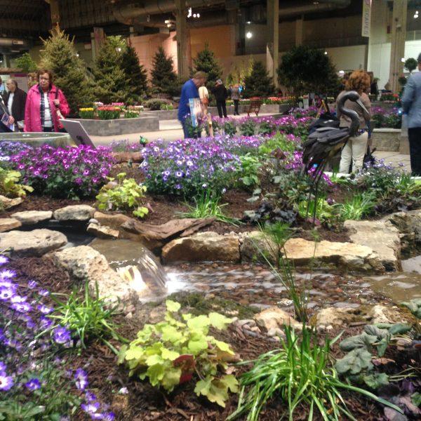 Beautiful landscape designs and flowers throughout the Chicago Flower & Garden Show - National Garden Bureau