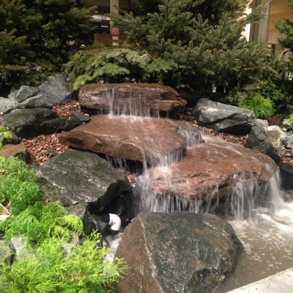 Amazing water features throughout the designs at the Chicago Flower & Garden Show - National Garden Bureau