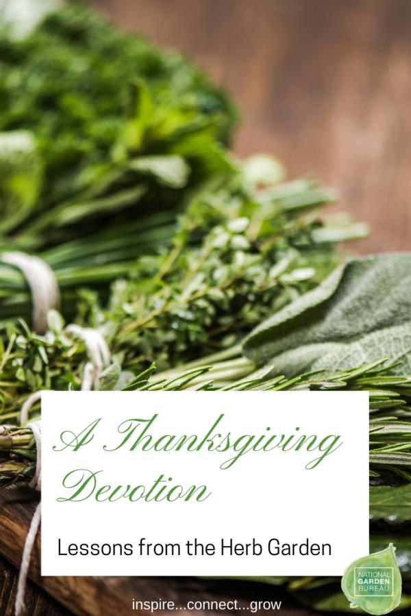 A Thanksgiving Devotion - Lessons from the Herb Garden - National Garden Bureau