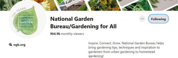 National Garden Bureau Pinterest Board