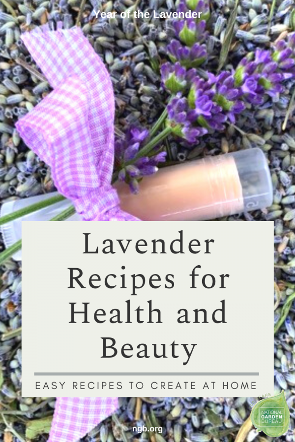 Lavender Recipes for Health and Beauty - Easy Recipes with Lavender to create at home - Year of the Lavender - National Garden Bureau #DIY