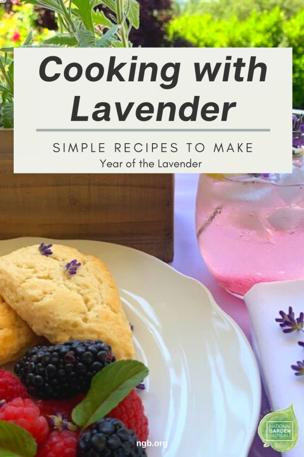 Cooking with Lavender - Simple recipes to make with your lavender - #Yearofthelavender - National Garden Bureau