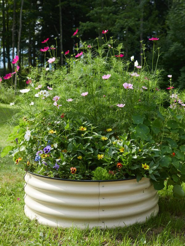"Round Metal Raised Bed 38"" x 15"""