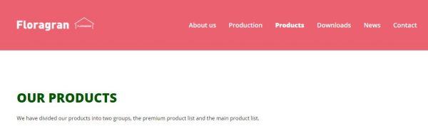 Floragran website