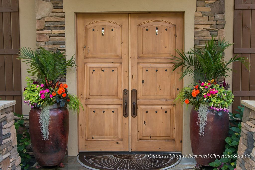 Add Front Door Planters for added Curb Appeal - National Garden Bureau