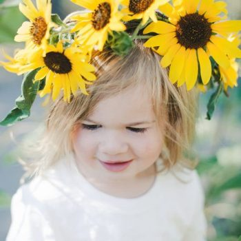 Sunflower DIY Crown from Sprouting Wild Ones