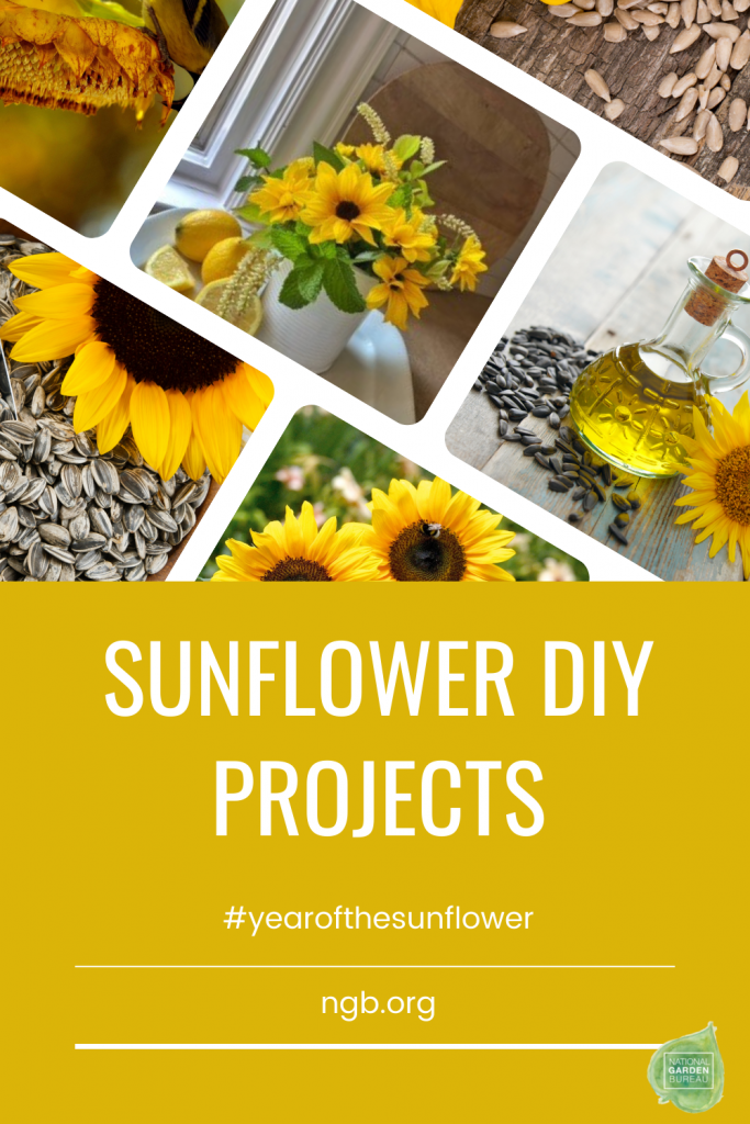 Sunflower DIY Projects to make for recipes, crafts and gifts - Year of the Sunflower