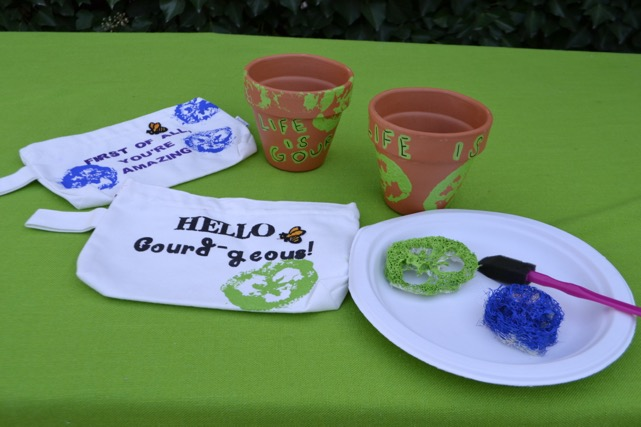 Make Luffa Stamped Tags and Bags / National Garden Bureau